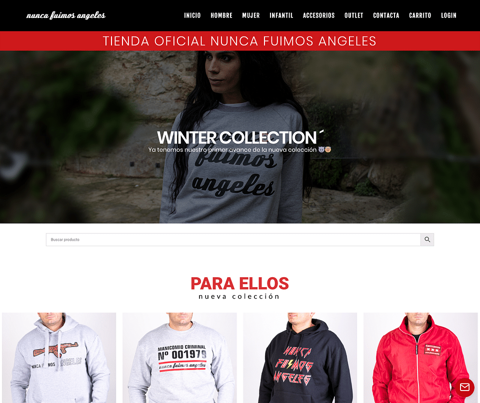 Shop Online Nunca Fuímos Ángeles