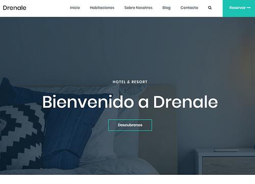 Pagina web Hotel de Lujo - Demostración - Creación de Sitios Web