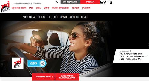 NRJ : Refonte graphique de site - Création de site internet
