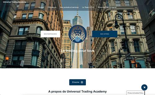 Site vitrine association de trader - E-commerce