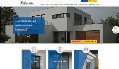 Clair de baie91 cherche clients - Création de site internet