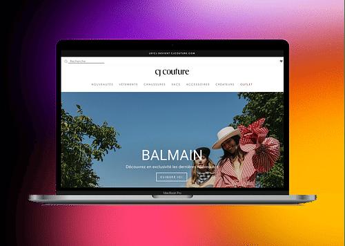 CJ  COUTURE | Migration sur Shopify - Website Creation