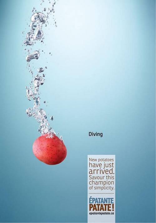 Amazing potato, Diving - Advertising