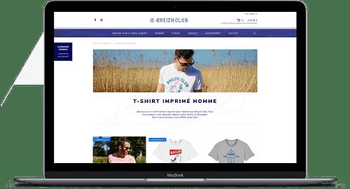 Multi-boutiques en ligne - Application web