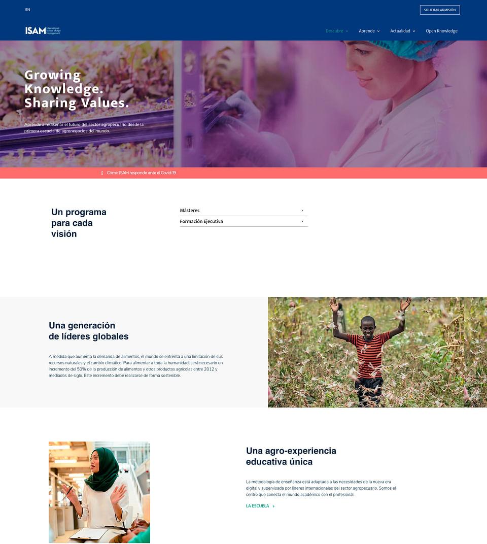Diseño Web Escuela Internacional  de Agronegocios