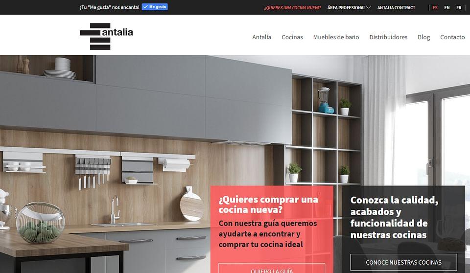 Sitio web Antalia Cocinas