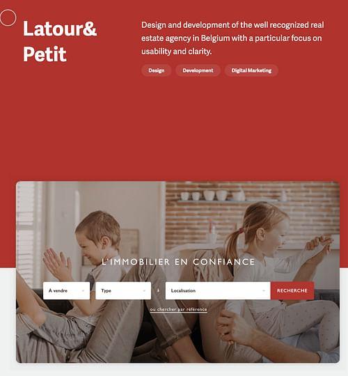 Real estate website - Latour et petit - Création de site internet