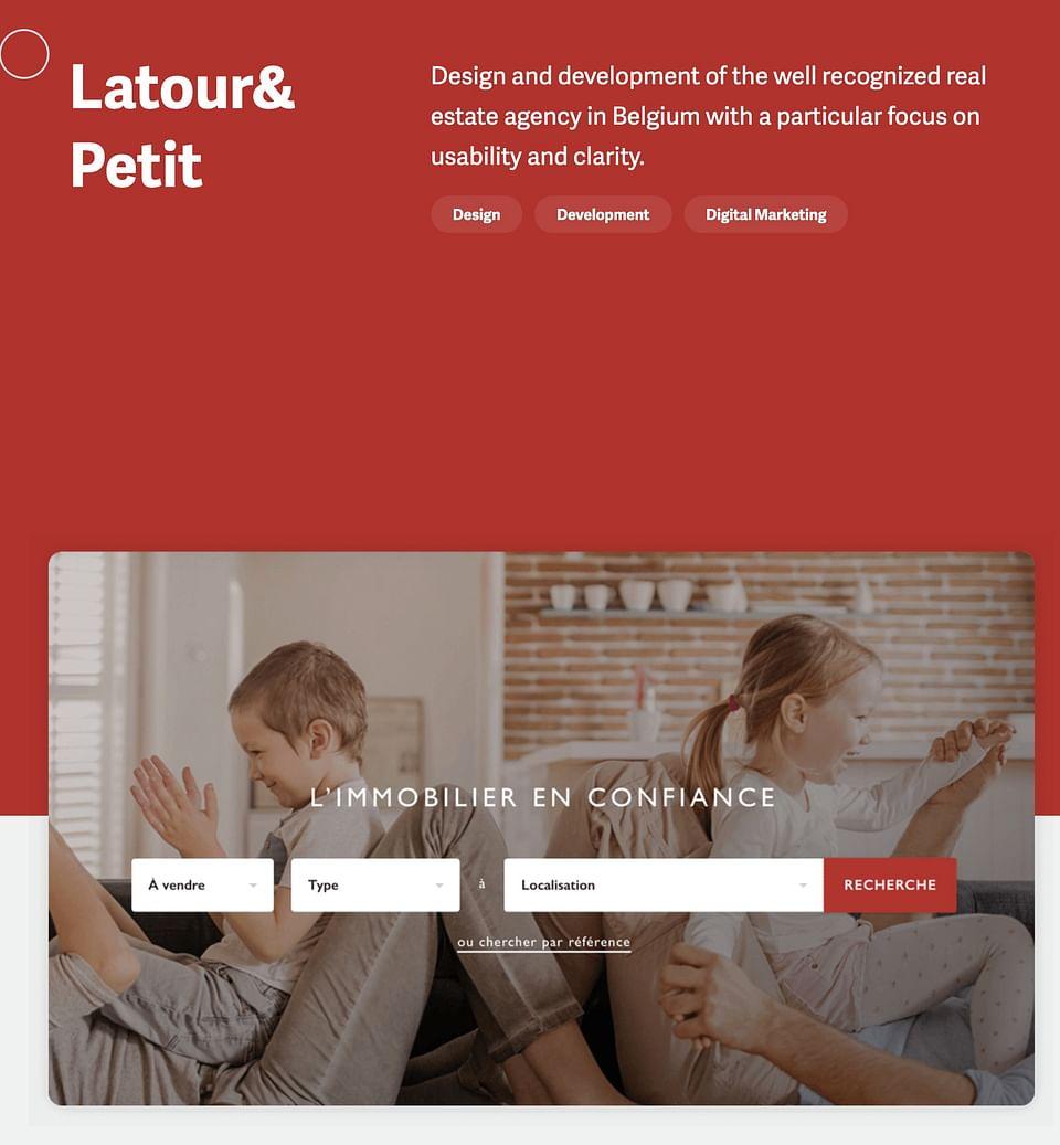Real estate website - Latour et petit