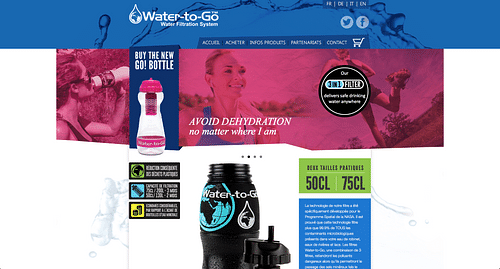 E-commerce solution for Water-To-Go Switzerland - Création de site internet