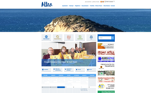 Web institucional Ayuntamiento de Altea - Estrategia digital