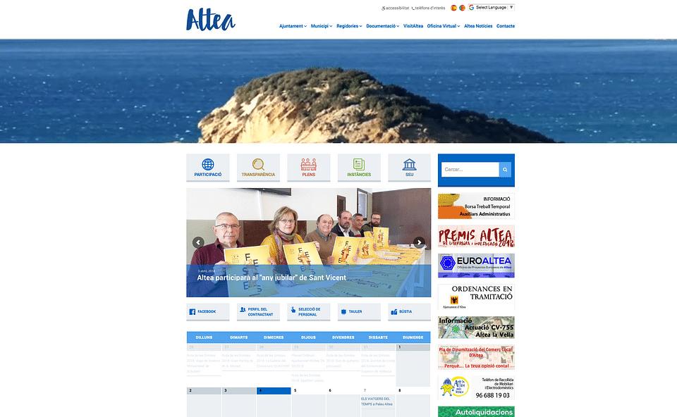 Web institucional Ayuntamiento de Altea