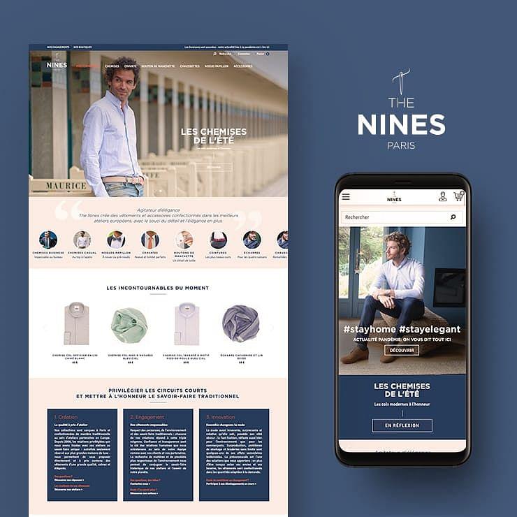 The Nines : refonte du site e-commerce  Prestashop