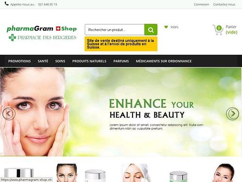 Pharmagram-shop.ch - E-commerce