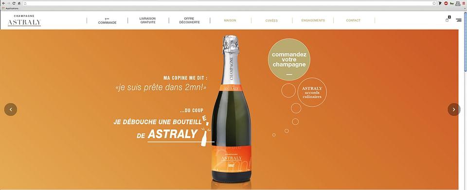 Lancement de Produit ,Lancement Champagne ASTRALY