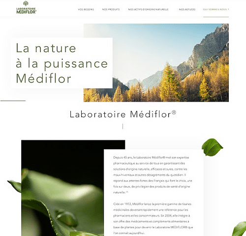 Site - Laboratoire Médiflor - Création de site internet