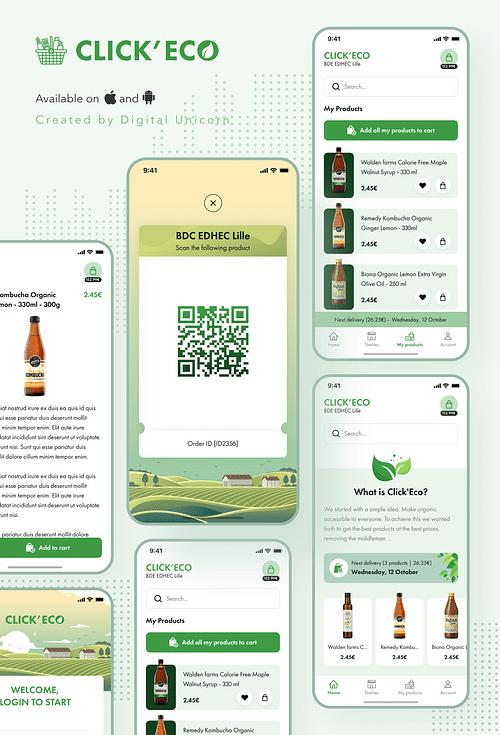 Click'éco - Application web