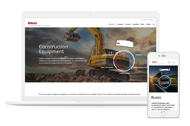 New website reflecting  innovation for TELENE