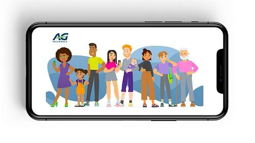 AG Insurance - Illustrations, character design - Création de site internet