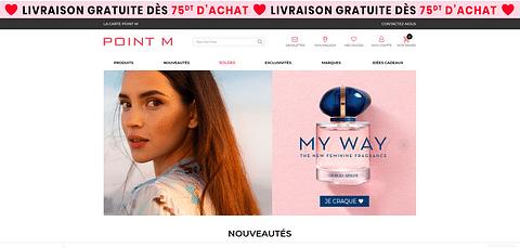 E-commerce : Parfumerie Point M