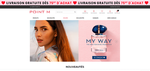 E-commerce : Parfumerie Point M - E-commerce