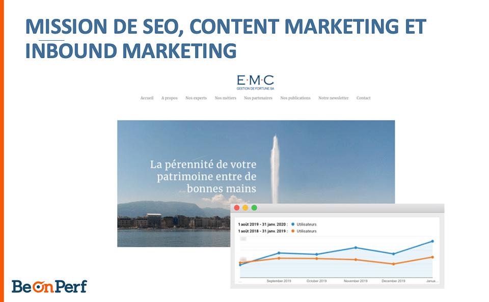 Mission de SEO et inbound marketing
