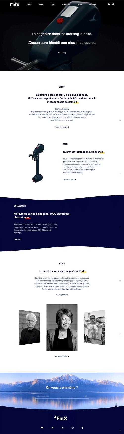 Website - FinX - Graphic Design
