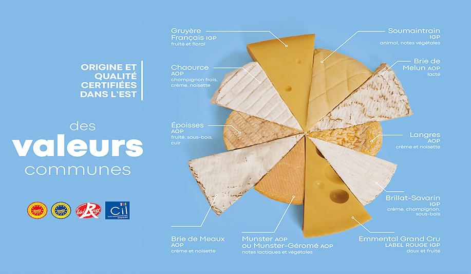 Campagne de pub pour les fromages AOP du Grand Est