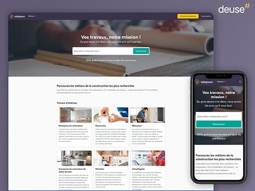 Application web de mise en relation - Web Applicatie