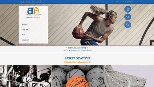 Diseño marca y tienda online para BASKET DEVOTION - Estrategia digital