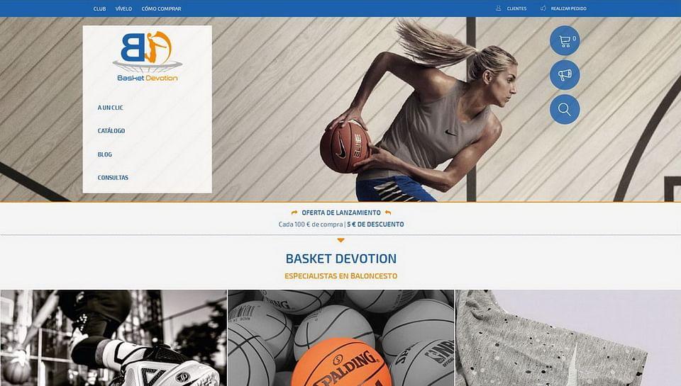Diseño marca y tienda online para BASKET DEVOTION