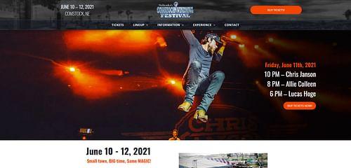 Music Festival Website - Website Creation