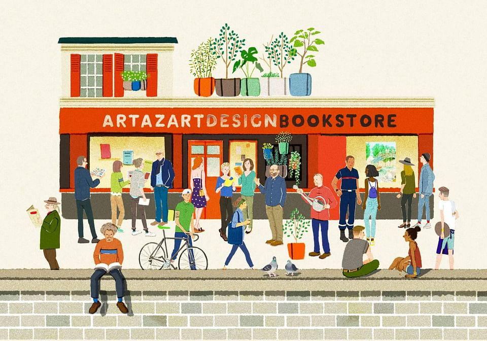 E-commerce : librairie Artazart - Canal St-Martin