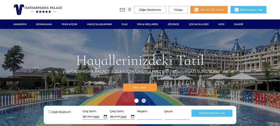 Website Creation - Haydarpasha Palace