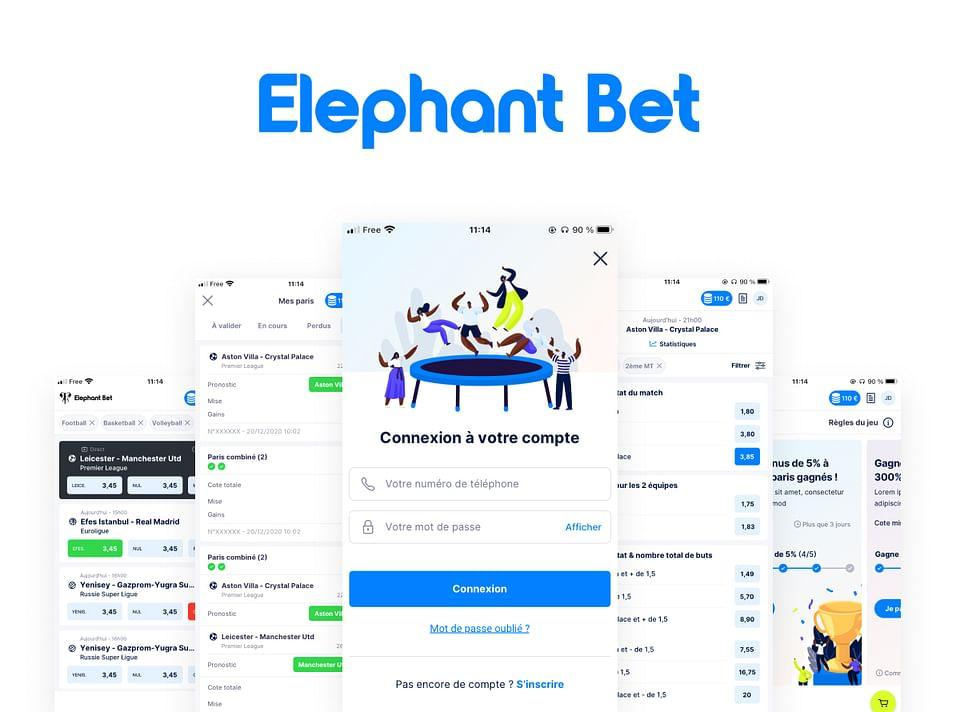 Elephant Bet - Conception UX/UI Site Paris Sportif