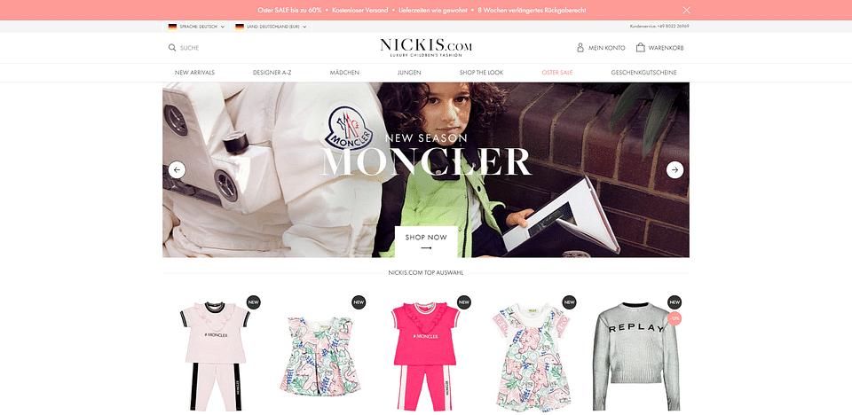 Onlineshop für NICKIS.com