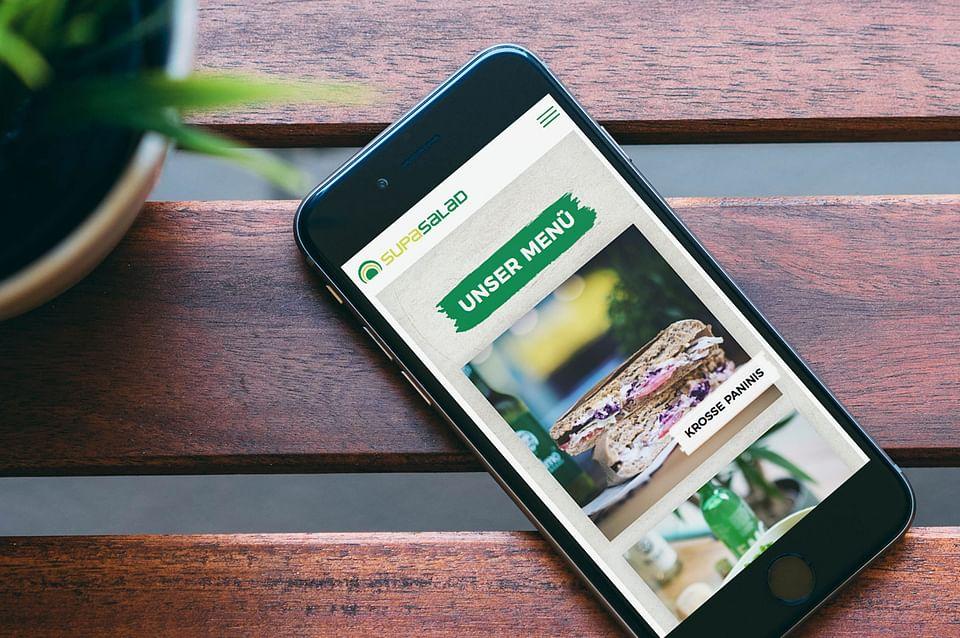 Relaunch der Website von Supasalad
