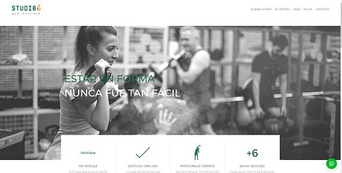 Sitio web Gymstudio6 - Creación de Sitios Web
