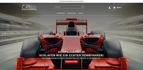kinder-autobetten - Shopware 6 Onlineshop - E-Commerce