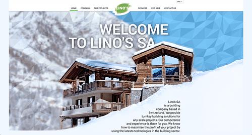 Website of Swiss Real Estate Developer - Création de site internet