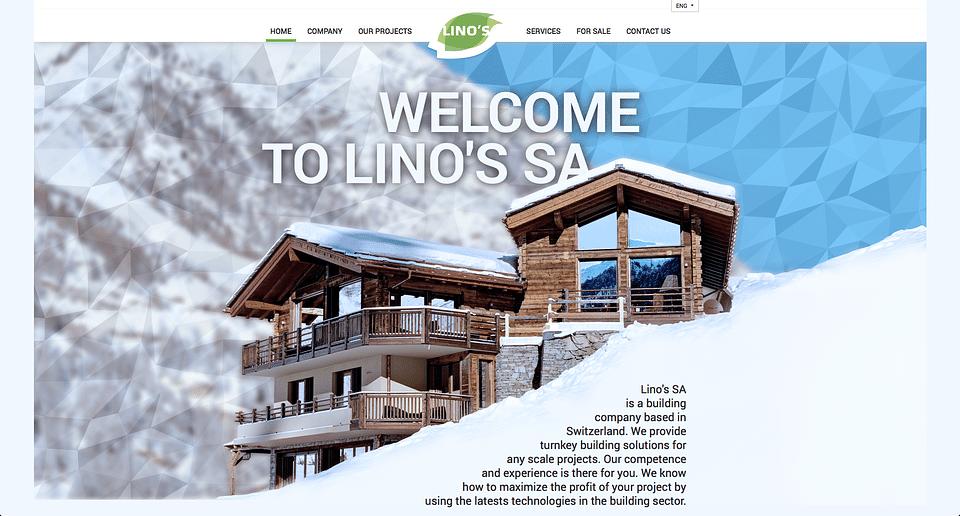 Website of Swiss Real Estate Developer