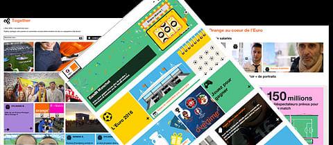 site web évènementiel euro2016 pour Orange