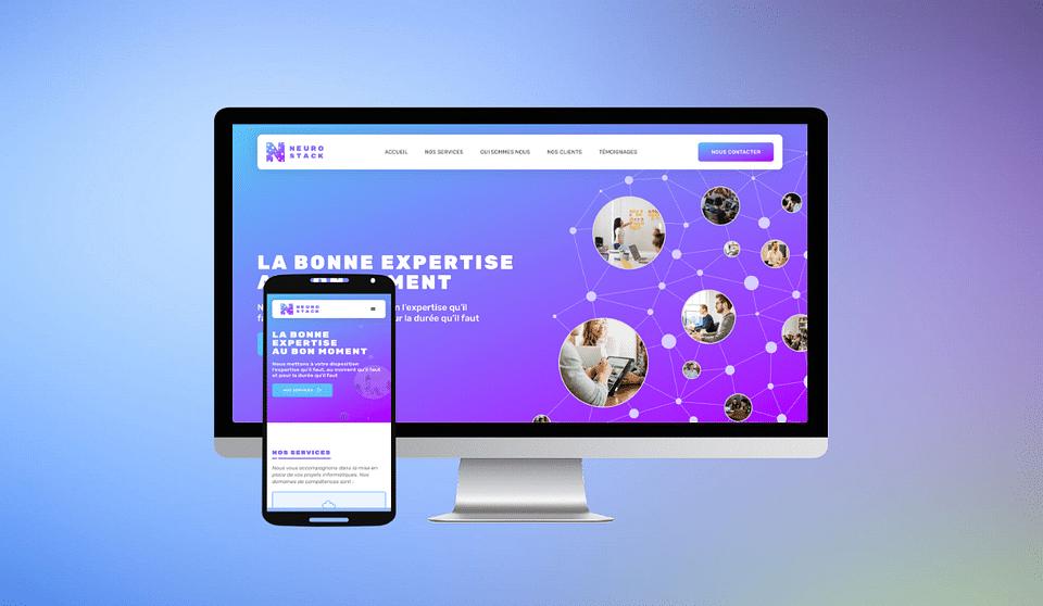 Développement site web Neurostack