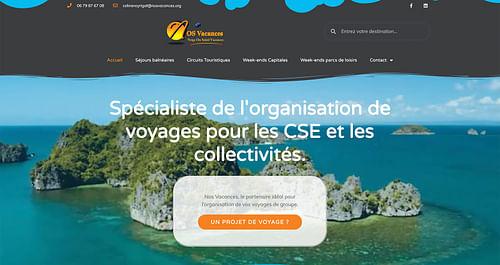 Création de site web nosvacances - Création de site internet