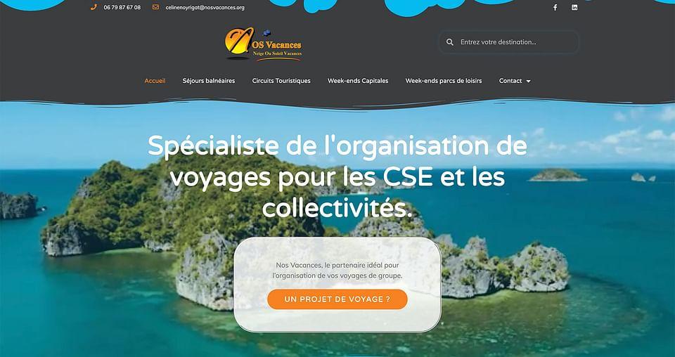 Création de site web nosvacances