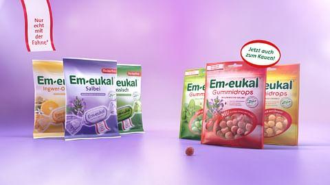 Em-eukal®: Mit Gummidrops erstmals im TV.
