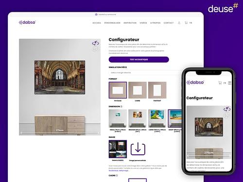 E-commerce de cadres photos acoustiques - E-commerce