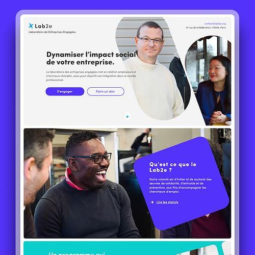 Lab2e / Site internet - Ergonomy (UX/UI)