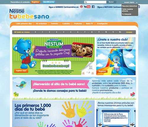 Nestle's Tu Bebe Sano - Estrategia digital