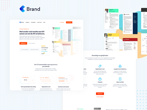 CV.nl Marketingsite - Website Creatie