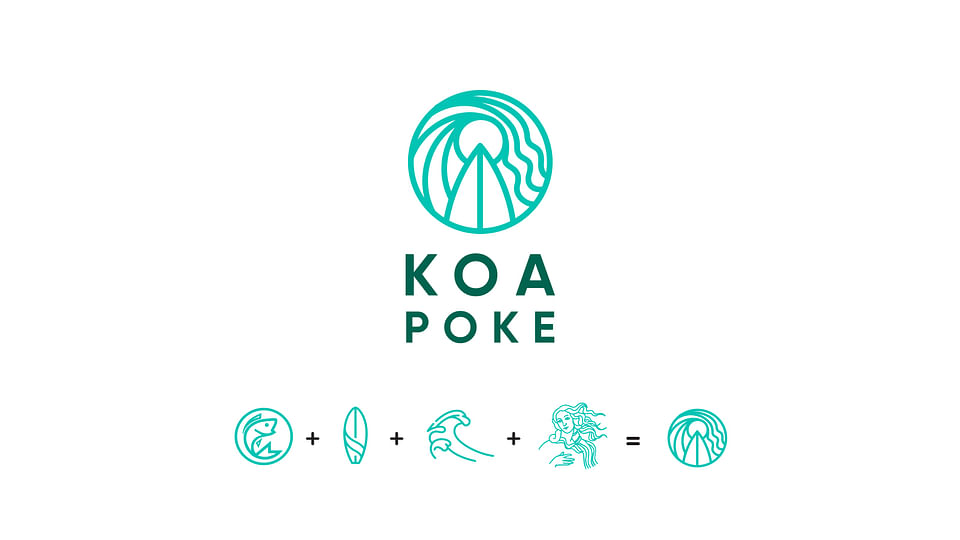 Branding, Diseño y Web  para Restaurante Koa Poke